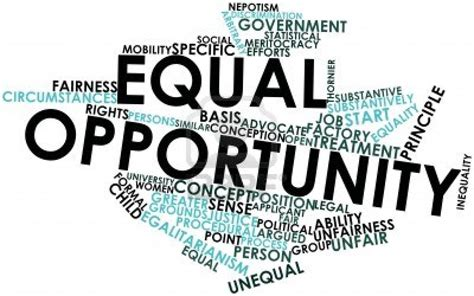 equal opportunities graphic